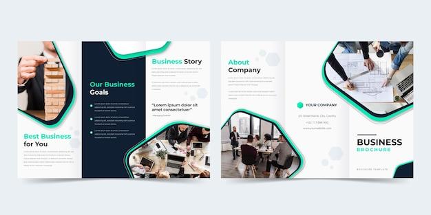 Driebladige abstracte brochure