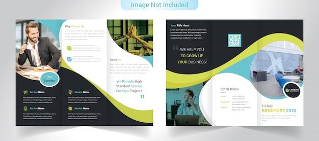 Driebladige bedrijfsbrochure