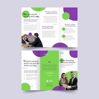 Driebladige brochure afdruksjabloon