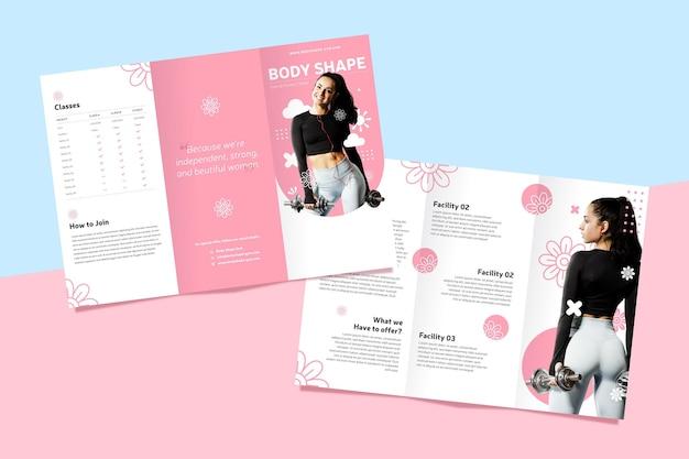 Driebladige brochure concept