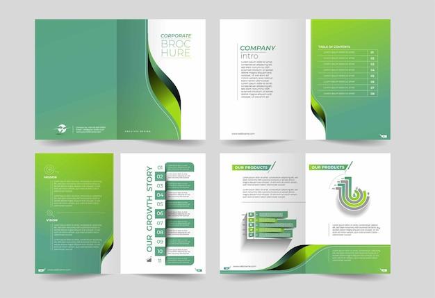 Driebladige brochure ontwerpelement