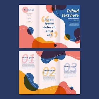 Driebladige brochure sjabloon concept