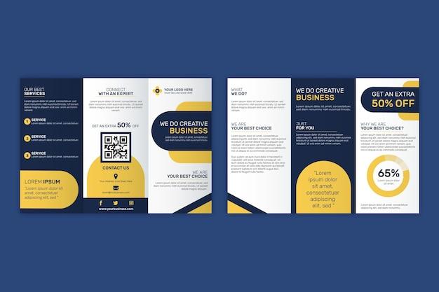 Driebladige brochure sjabloon thema