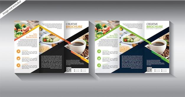 Driebladige brochure sjabloon voor lay-out folder