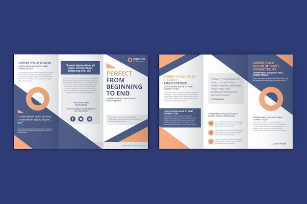 Driebladige brochure sjabloon