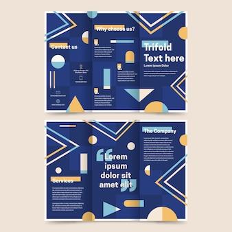 Driebladige brochure sjabloonstijl