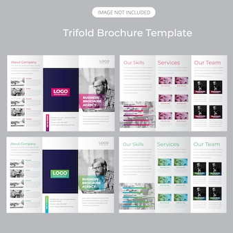 Driebladige brochure template
