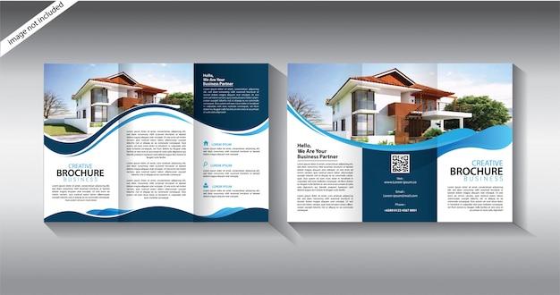 Driebladige brochuremalplaatje voor opmaakfolder