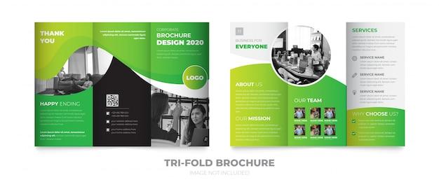 Driebladige nieuwe brochure sjabloon