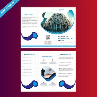 Driebladige zakelijke brochure ontwerpsjabloon