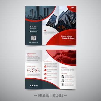 Driebladige zakelijke brochure sjabloon