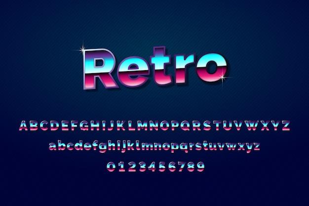 Driedimensionaal retro alfabet