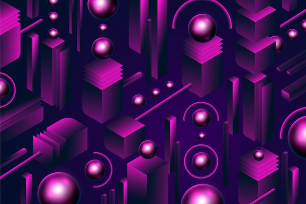 Driedimensionale achtergrond met bollen