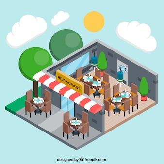 Driedimensionale restaurant
