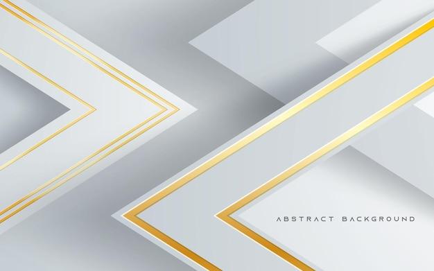 Driehoek dimensie lagen achtergrond gouden lijn decoratie