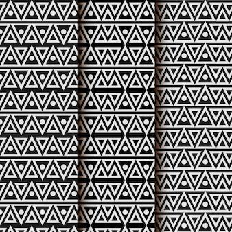 Driehoek geometrisch naadloos patroon