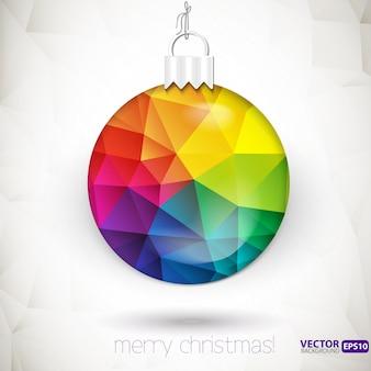 Driehoek kerst decoraties vector achtergrond