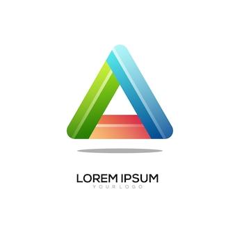 Driehoek kleurrijke logo afbeelding
