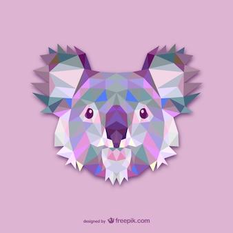 Driehoek koalaontwerp