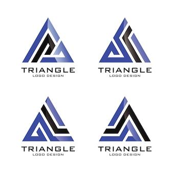 Driehoek logo template vector illustratie