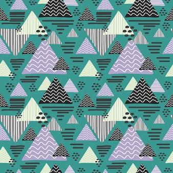 Driehoek memphis patroon