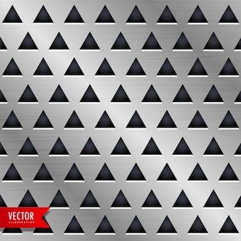 Driehoek metalen achtergrond ontwerp