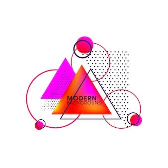 Driehoek Moderne Creatieve Abstracte Vectorelementen