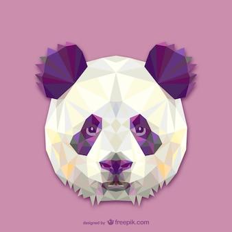 Driehoek pandaontwerp
