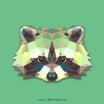 Driehoek wasbeer ontwerp
