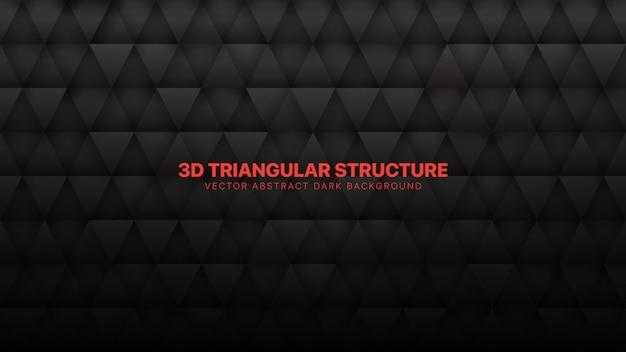 Driehoeken donkergrijze abstracte achtergrond
