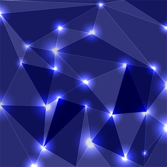 Driehoeken met heldere apex achtergrond