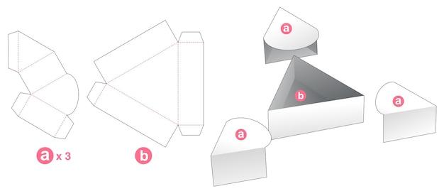 Driehoekig dienblad met 3 deksels gestanst sjabloon