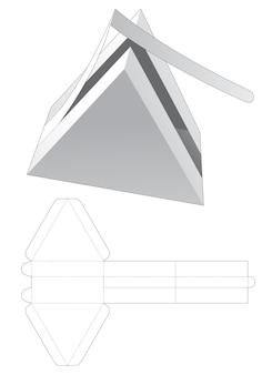 Driehoekig geschenk met gestanste sjabloon met ritssluiting