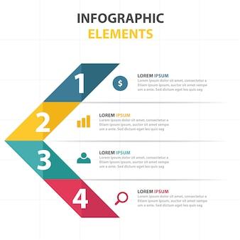 Driehoekig infografisch bedrijfsmall