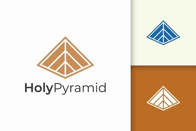 Driehoekig piramidelogo in eenvoudige en moderne vorm geschikt voor technologiebedrijf