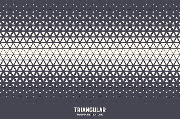 Driehoekige halftone textuur geometrische rand retro gekleurde patroon technologie abstracte achtergrond