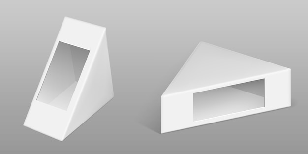 Driehoekige kartonnen doos voor sandwich set