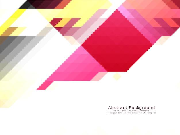 Driehoekige mozaïek patroon kleurrijke geometrische achtergrond vector