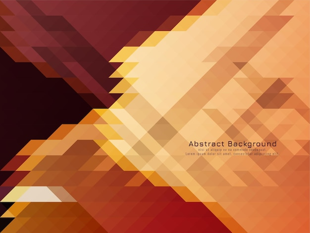 Driehoekige mozaïek patroon retro geometrische achtergrond vector