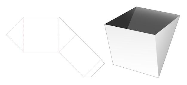 Driehoekige schaal voor snack gestanst sjabloon