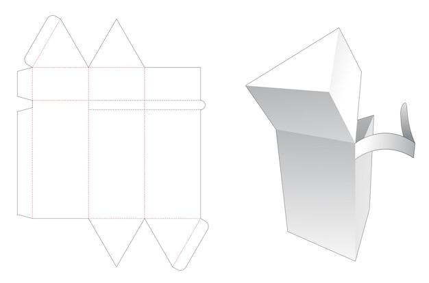 Driehoekige verpakking gestanst sjabloon met ritssluiting