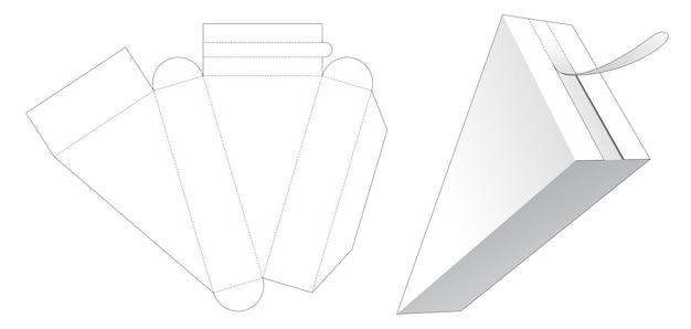 Driehoekige verpakking met gestanste sjabloon met ritssluiting aan de bovenkant