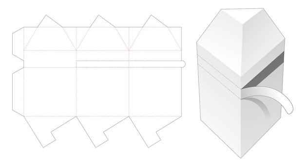 Driehoekige verpakking met gestanste sjabloon met ritssluiting