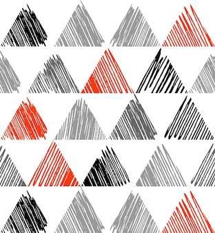 Driehoekspatroon met grungetextuur, geometrische eenvoudige achtergrond. elegante en luxe stijlillustratie