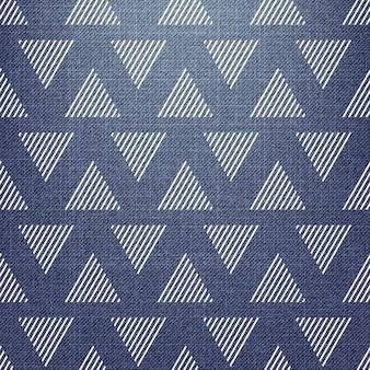 Driehoekspatroon op textiel. abstracte geometrische achtergrond, vectorillustratie. creatieve en luxe stijlafbeelding