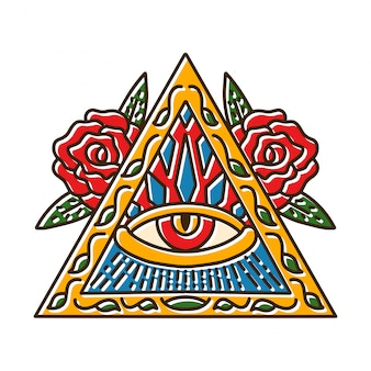 Driehoeksymbolen met oog