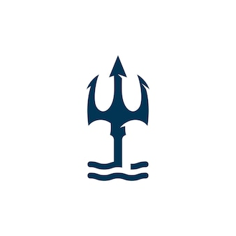 Drietand vector logo pictogram illustratie teken symbool