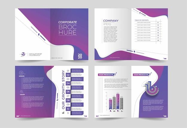 Drievoudig en tweevoudig brochureontwerpelement