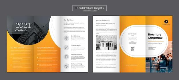 Drievoudige vouwbrochure voor bedrijven en reclame