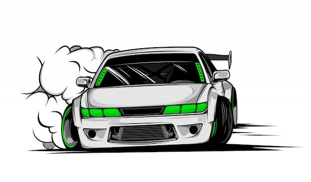 Drift auto illustratie